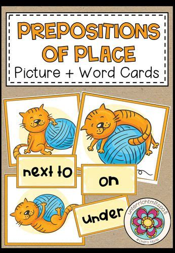 Prepositions of place - Picture + Word Cards   Download